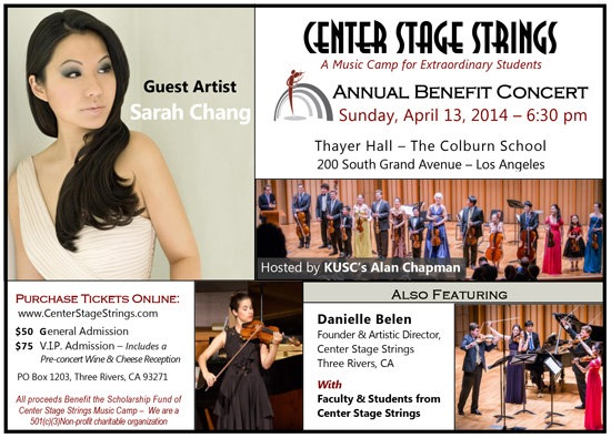 Center Stage Strings Benefit Concert
