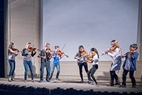 Center Stage Strings students perform in Sequoia Natl Park